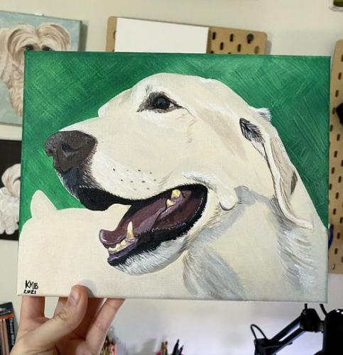 Golden Lab Dog Pet Portrait