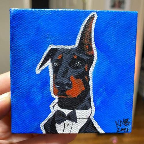 Doberman Dog Pet Portrait
