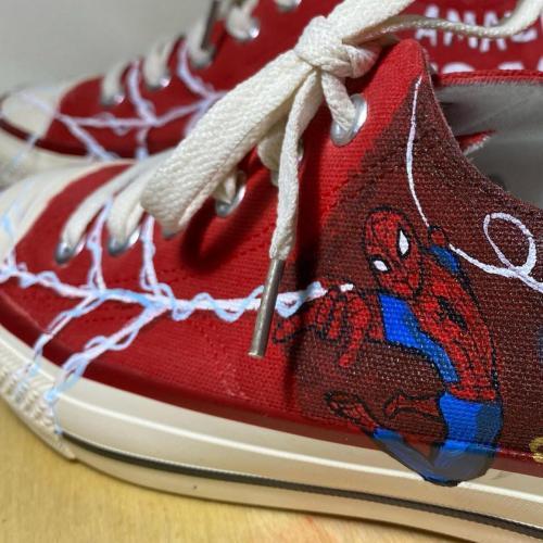 spider-man shoes left